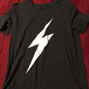 Tops - Graphic Tee with Thunderbolt Size Large